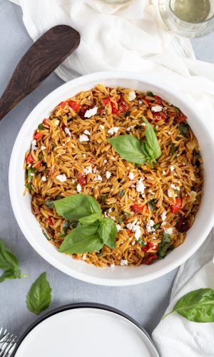 Orzo with Sundried Tomatoes and Feta