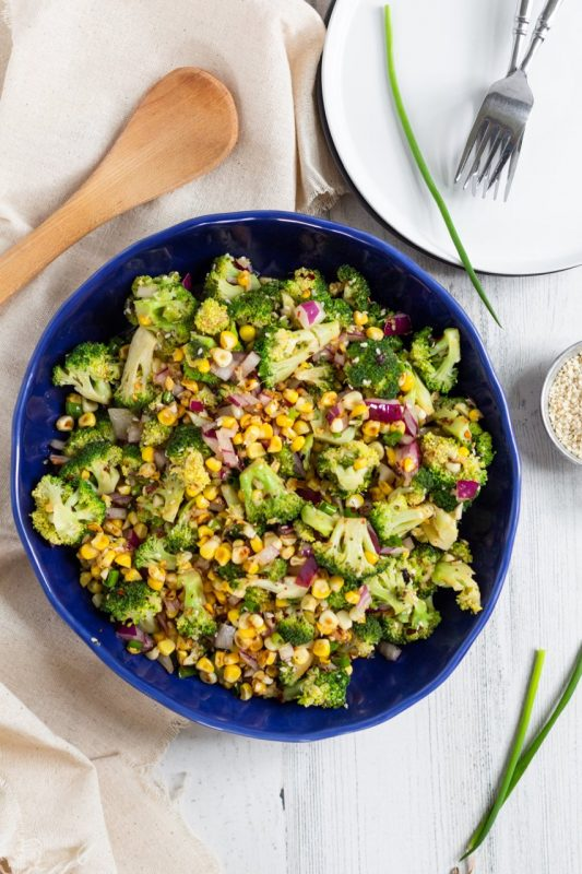 Spicy Sesame Broccoli Corn Salad6
